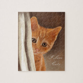Fluffy Ginger Kitten Jigsaw Puzzle
