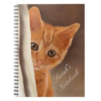 Fluffy Ginger Kitten Notebooks