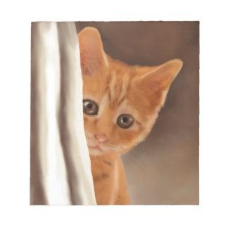 Fluffy Ginger Kitten Notepad