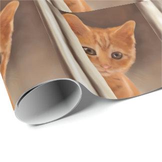 Fluffy Ginger Kitten Wrapping Paper