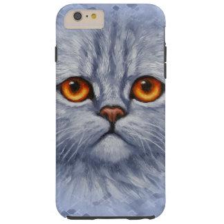 Fluffy Gray Tabby Cat Kitten Face Tough iPhone 6 Plus Case
