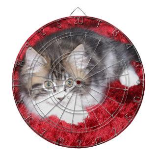 fluffy-kitten-on-red-rug dartboard