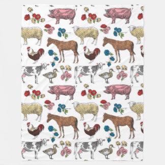 Fluffy Layers Farm Beauty Fleece Blanket