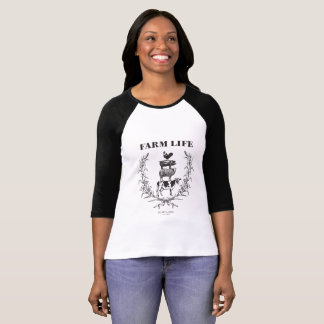 "Fluffy Layers ""Farm Life""  Baseball Tell T-Shirt"