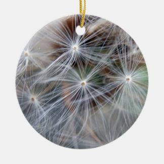 Fluffy (Parachute) Dandelion Seeds Christmas Ornament