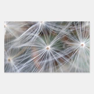 Fluffy (Parachute) Dandelion Seeds Rectangular Sticker