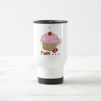 Fluffy Pink Yum! Stainless Steel Travel Mug