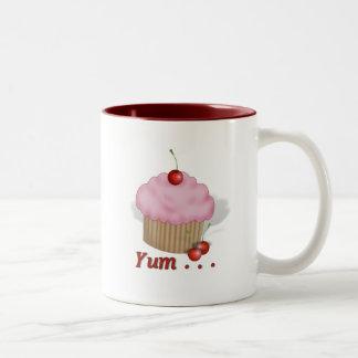 Fluffy Pink Yum! Two-Tone Mug
