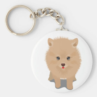 Fluffy Pomeranian Key Ring