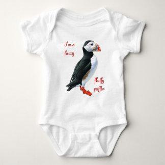 Fluffy Puffin Baby Bodysuit