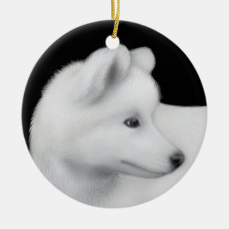 Fluffy Samoyed Dog Ornament