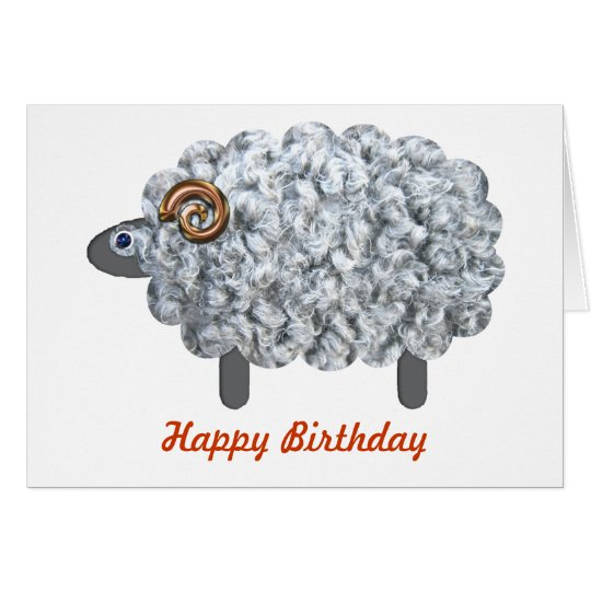 Fluffy Sheep Birthday Card