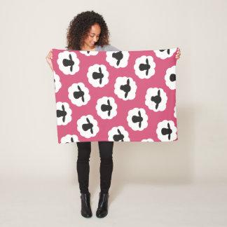 Fluffy Sheep Fiber Love Knit Crochet • Crafts Fleece Blanket