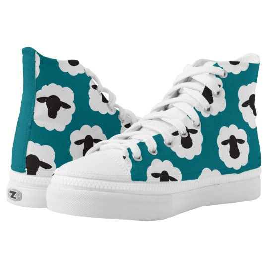 Fluffy Sheep Print {Any Colour} High Tops