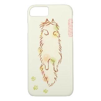 Fluffy Sleepy Cat iPhone 7 Case