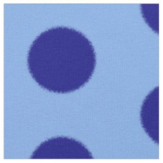 Fluffy spots navy blue on light blue b/g fabric