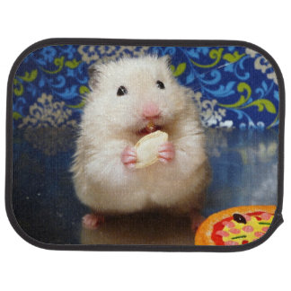 Fluffy syrian hamster Kokolinka eating a seed Car Mat