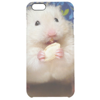 Fluffy syrian hamster Kokolinka eating a seed Clear iPhone 6 Plus Case