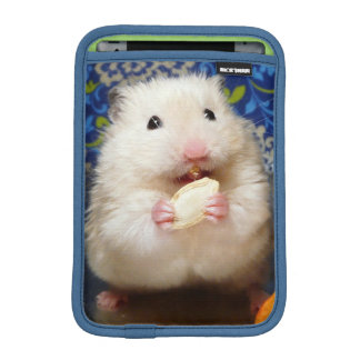 Fluffy syrian hamster Kokolinka eating a seed iPad Mini Sleeve