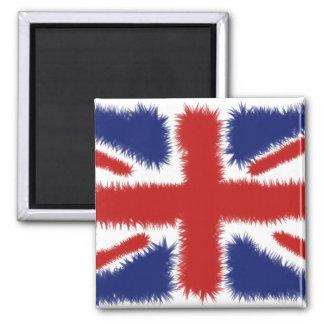 Fluffy UK Square Magnet