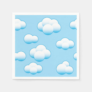 Fluffy White Clouds Paper Napkins Disposable Napkin