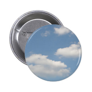 Fluffy White Cumulus Clouds Button