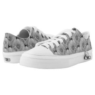 Fluffy White Dandelion Flower Nature Pattern Low Tops