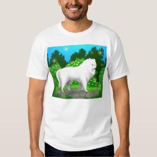 Fluffy White Samoyed Dog T Shirt