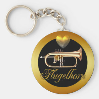 FLUGELHORN BASIC ROUND BUTTON KEY RING