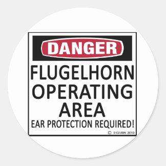 Flugelhorn Operating Area Round Sticker