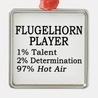Flugelhorn Player Hot Air Christmas Ornament