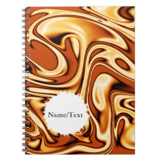 fluid art01 golden spiral notebooks