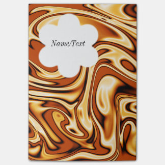 fluid art01 golden post-it® notes