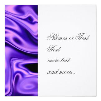 """fluid art01 purple 5.25"""" square invitation card"""