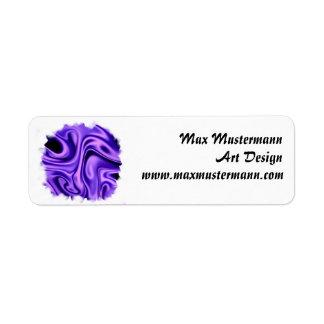 fluid art01 purple return address label