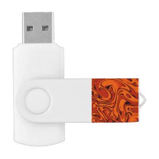 fluid art01 red swivel USB 2.0 flash drive