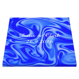 fluid art01inky blue stretched canvas prints