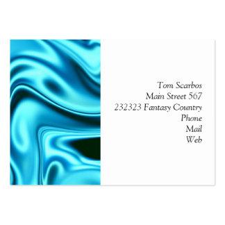 fluid art 01 aqua large business cards (Pack of 100)