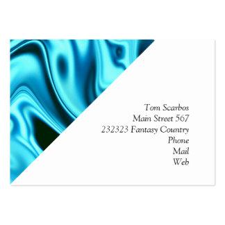 fluid art 01 aqua pack of chubby business cards