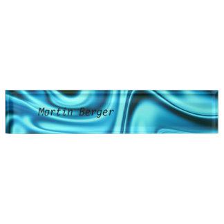 fluid art 01 aqua nameplate