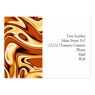 fluid art 01 golden business card template