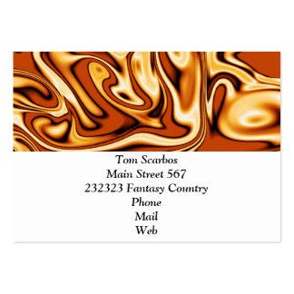 fluid art 01 golden business card templates