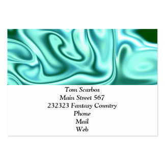fluid art 01 green pack of chubby business cards