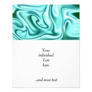 fluid art 01 green 11.5 cm x 14 cm flyer