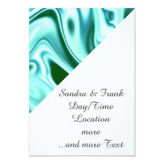 """fluid art 01 green 5"""" x 7"""" invitation card"""