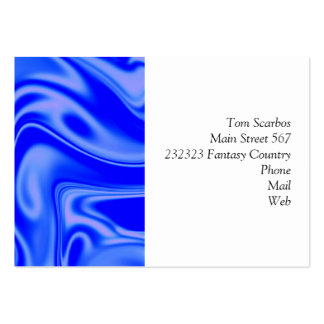 fluid art 01 inky blue pack of chubby business cards
