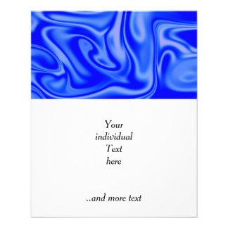 fluid art 01 inky blue 11.5 cm x 14 cm flyer
