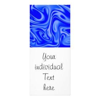 fluid art 01 inky blue rack card template