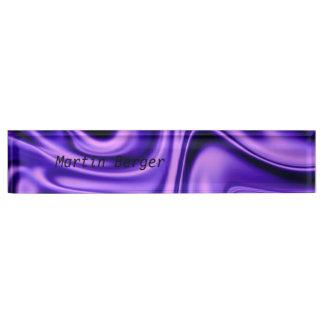 fluid art 01 purple name plate