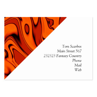 fluid art 01 red pack of chubby business cards